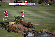 18 APR15 China's Xiu Lin during Saturday's Final Round of The LOTTE Championship at The Ko Olina Golf Club in Kapolei, Hawaii. (photo credit : kenneth e. dennis/kendennisphoto.com)