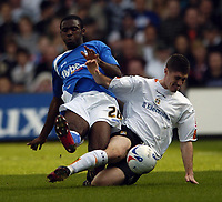 Photo: Jonathan Butler.<br />Luton Town v Birmingham City. Coca Cola Championship. 14/10/2006.<br />Fabrice Muamba of Birmingham (L) is tackled.