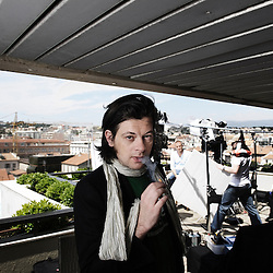 """French singer and actor Benjamin Biolay at the 63rd Cannes Film Festival for the movie """"La Meute"""". France. 18 May 2010. Photo: Antoine Doyen"""