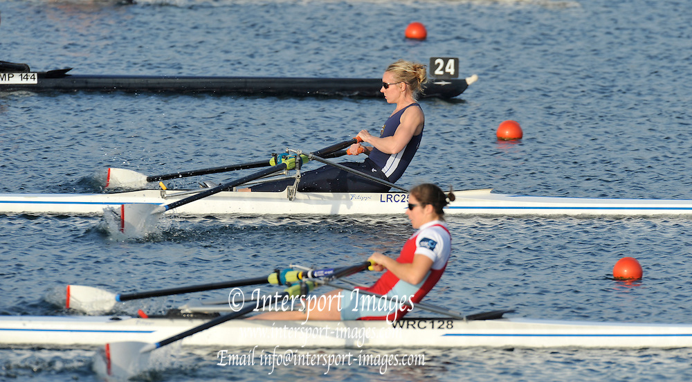Eton, United Kingdom.   Women's Lightweight single.  move away from the start at the 2012 GB Rowing Senior Trials, Dorney Lake. Nr Windsor, Berks.  Saturday  10/03/2012  [Mandatory Credit; Peter Spurrier/Intersport-images]