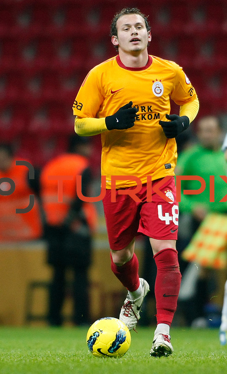 Galatasaray's Mertan Caner Ozturk during their Turkey Cup matchday 3 soccer match Galatasaray between AdanaDemirspor at the Turk Telekom Arena at Aslantepe in Istanbul Turkey on Tuesday 10 January 2012. Photo by TURKPIX