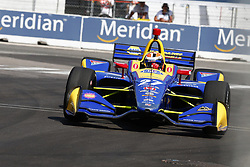 July 13, 2018 - Toronto, Ontario, Canada - ALEXANDER ROSSI (27) of the United States takes to the track to practice for the Honda Indy Toronto at Streets of Exhibition Place in Toronto, Ontario. (Credit Image: © Justin R. Noe Asp Inc/ASP via ZUMA Wire)