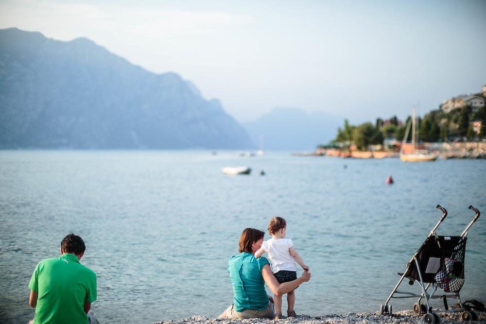 21 JUN 2012 - Malcesine (VR) - Lago di Garda - Spiaggia.