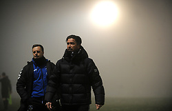 Oldham Athletic manager Harry Kewell after the game is postponed due to bad weather - Mandatory by-line: Nizaam Jones/JMP - 02/01/2021 - FOOTBALL - innocent New Lawn Stadium - Nailsworth, England - Forest Green Rovers v Oldham Athletic - Sky Bet League Two