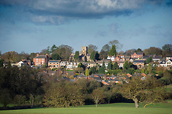Thurnby village with St. Lukes Church at the centre, Leicestershire, England, UK.<br /> Photo: Ed Maynard<br /> 07976 239803<br /> www.edmaynard.com