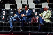 Guido Bagatta, Federico Casarin<br /> Happy Casa Brindisi - Banco di Sardegna Dinamo Sassari<br /> Discovery+ Supercoppa 2021 - Final Eight - Quarti di Finale<br /> LBA Legabasket Serie A UnipolSAI 2021/2022<br /> Bologna, 18/09/2021<br /> Foto L.Canu / Ciamillo-Castoria