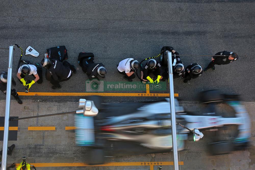 March 7, 2018 - Barcelona, Spain - the Mercedes of Lewis Hamilton during the Formula 1 tests at the Barcelona-Catalunya Circuit, on 07th March 2018 in Barcelona, Spain.  Photo: Joan Valls/Urbanandsport /NurPhoto. (Credit Image: © Joan Valls/NurPhoto via ZUMA Press)