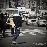 Getting around New York by way of skateboard
