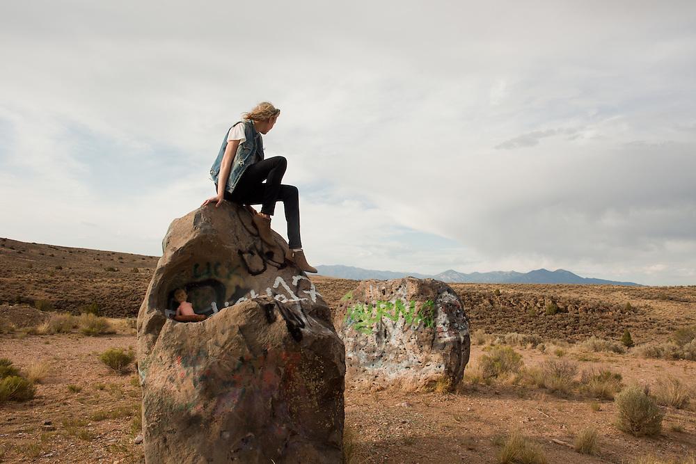 Self portrait taken at Rio Grande del Norte National Monument near road 110, July 2013.