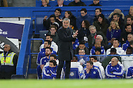Jose Mourinho, the Chelsea Manager giving orders to his players from the touchline. Barclays Premier league match, Chelsea v AFC Bournemouth at Stamford Bridge in London on Saturday 5th December 2015.<br /> pic by John Patrick Fletcher, Andrew Orchard sports photography.