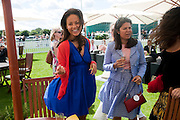 RACHEL BARRETT; DANIELLA HELAYEL, Cartier International Polo. Smiths Lawn. Windsor. 24 July 2011. <br /> <br />  , -DO NOT ARCHIVE-© Copyright Photograph by Dafydd Jones. 248 Clapham Rd. London SW9 0PZ. Tel 0207 820 0771. www.dafjones.com.