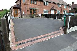 Front garden paved over for car parking. Nottingham