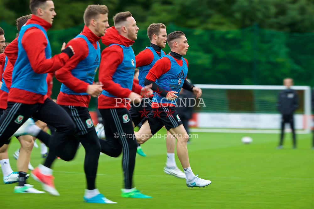 CARDIFF, WALES - Thursday, June 8, 2017: Wales' Harry Wilson during a training session at the Vale Resort ahead of the 2018 FIFA World Cup Qualifying Group D match against Serbia. (Pic by David Rawcliffe/Propaganda)
