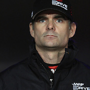 NASCAR Sprint Cup driver Jeff Gordon is seen during the driver introductions prior to the NASCAR Sprint Unlimited Race at Daytona International Speedway on Saturday, February 16, 2013 in Daytona Beach, Florida.  (AP Photo/Alex Menendez)
