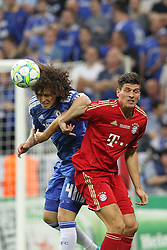 19.05.2012, Allianz Arena, Muenchen, GER, UEFA CL, Finale, FC Bayern Muenchen (GER) vs FC Chelsea (ENG), im Bild David LUIZ (FC Chelsea), links, klaert gegen Mario GOMEZ (Bayern Muenchen) // during the Final Match of the UEFA Championsleague between FC Bayern Munich (GER) vs Chelsea FC (ENG) at the Allianz Arena, Munich, Germany on 2012/05/19. EXPA Pictures © 2012, PhotoCredit: EXPA/ Eibner/ Eckhard Eibner..***** ATTENTION - OUT OF GER *****