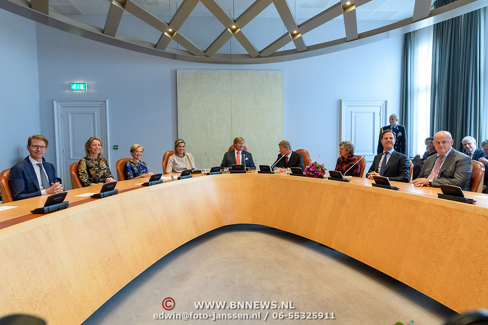 NLD/Den Haag/20180831 - Willem-Alexander en Maxima bij afscheid vice-president Raad van State, Hoge Raad