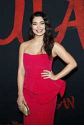 Auli'i Cravalho at the World premiere of Disney's 'Mulan' held at the Dolby Theatre in Hollywood, USA on March 9, 2020.