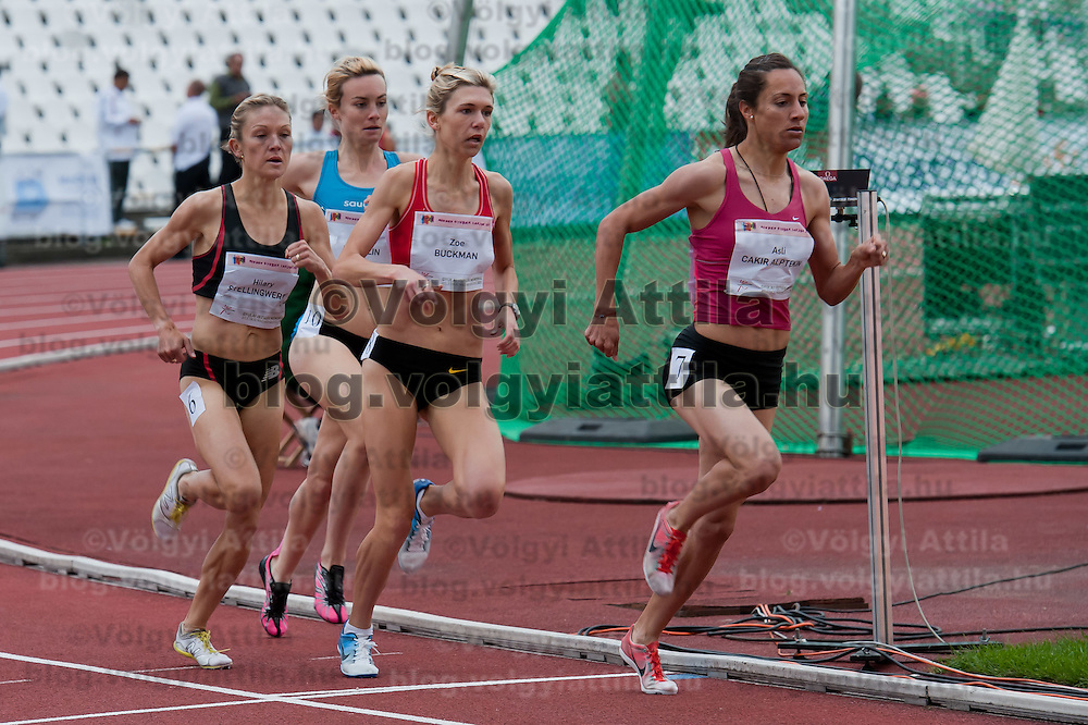 Competitors compete in the 1500m women's running competition during the Istvan Gyulai Memorial Hungarian Athletics Grand Prix 2011, in the Ferenc Puskas Stadium in Budapest, Hungary on July 30, 2011. ATTILA VOLGYI
