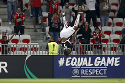 Allan Saint-Maximin of OCG Nice during the UEFA Europa League group K match  match between OGC Nice and Vitesse Arnhem on September 28, 2017 at the Allianz Riviera in Nice, France
