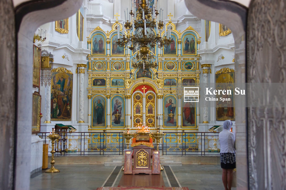 Inside the Cathedral of the Holy Spirit, Minsk, Belarus