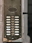 Detail of Doorbells, Rome, Italy.