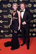Uitreiking Gouden Televizier-Ring Gala 2018.<br /> <br /> OP de foto:  Bastiaan Ragas en partner Tooske Ragas