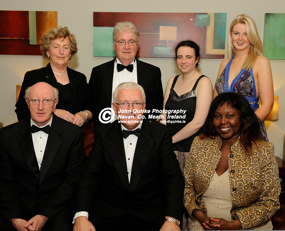 17-11-11. Meath Business and Tourism Awards 2011 at Trim Castle Hotel.<br /> Kells Tourism Forum Group L to R.<br /> Back: Peggie O'Reilly, Ronnie McGrane, Maria Flanagan, Laura Farrelly.<br /> Front: Aidan Wall, John V. Farrelly, Chairman, Meath Tourism and Lucy O'Reilly.<br /> Photo: John Quirke / www.quirke.ie<br /> ©John Quirke Photography, Unit 17, Blackcastle Shopping Centre. Co. Meath. 046-9079044 / 087-2579454.