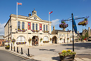 Historic town hall building, Melksham, Wiltshire, England, UK built 1847