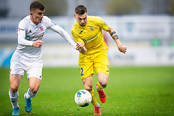 Egzon Kryeziu of Triglav and Gregor Sikosek of Domzale during football match between NK Domzale and NK Triglav in Round #18 of Prva liga Telekom Slovenije 2019/20, on November 23, 2019 in Sports park Domzale, Slovenia. Photo by Sinisa Kanizaj / Sportida