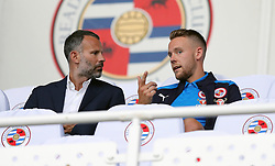 Wales manager Ryan Giggs (left) and Chris Gunter in the stands before the Sky Bet Championship match at the Madejski Stadium, Reading.