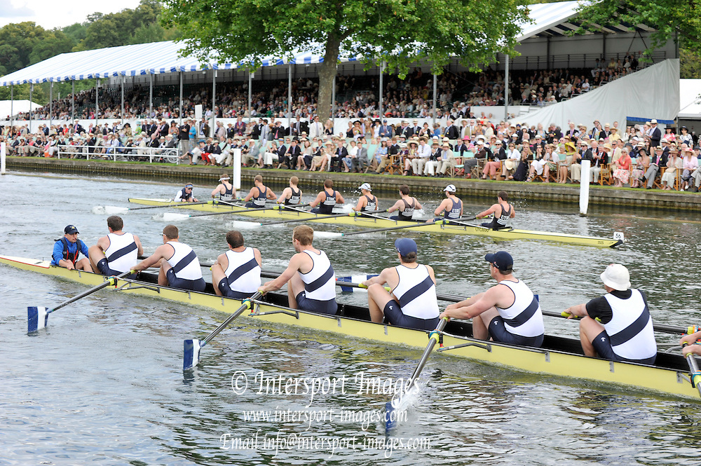 Henley, Great Britain. University Barge Club USA. led home Upper Thames RC.  in a round of the Thames Challenge Cup.. Henley Royal Regatta, 2011 Henley Royal Regatta. River Thames Henley Reach.  Thursday   30/06/2011  [Mandatory Credit Peter Spurrier/ Intersport Images] 2011 Henley Royal Regatta. HOT. Great Britain . HRR