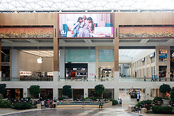 Interior of Yas Mall shopping centre on Saadiyat Island, UAE
