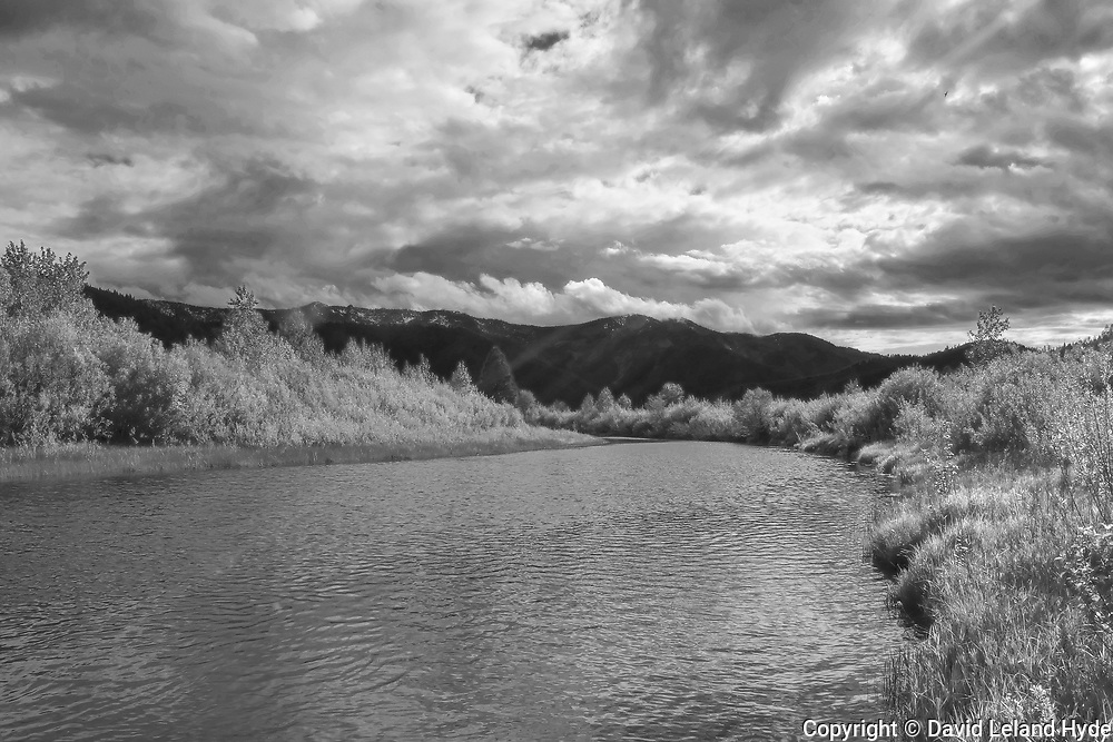 Indian Creek, Grizzly Ridge, Heart K Ranch, Genesee Valley, California Mountains, Sierra Nevada, Black and White Photography, Black and White Art, Dark Skies, Sunlight Through Clouds