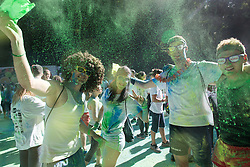 Athletes at Color Run event Tusev Tek Barv 2015 on June 24th 2015, in Roznik, Ljubljana. Photo by Matic Klansek Velej / Sportida