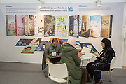 Hamad Bin Khalifa University Press during day two of the London Book Fair on the 13th March 2019 at London Olympia in the United Kingdom.