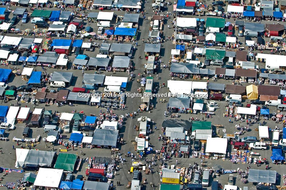 Aerial views of Jamaica Queens Flea Market,