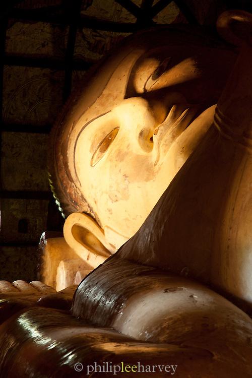A reclining Buddha near the Shwesandaw pagoda in the ancient city of Bagan, Myanmar