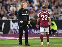 Football - 2021 / 2022 Premier League - West Ham United vs Leicester City - London Stadium - Monday 23rd August 2021<br /> <br /> West Ham United manager David Moyes with Said Benrahma.<br /> <br /> COLORSPORT/Ashley Western