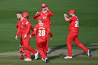 Cricket - 2020 T20 Vitality Blast - Quarter-final - Sussex Sharks vs Lancashire Lightning - County Ground, Hove<br /> <br /> Lancashire Lightning celebrate their 45 run victory.<br /> <br /> COLORSPORT/ASHLEY WESTERN