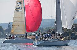 Silvers Marine Scottish Series 2017<br /> Tarbert Loch Fyne - Sailing<br /> <br /> GBR9740R, Sloop John T, Iain & Graham Thomson, CCC, Swan 40<br /> <br /> Credit Marc Turner / PFM