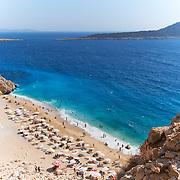 The number one beach in Turkey, Kaputas beach aerial view in turquoise coast