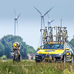 EMMEN (NED) June 16: <br />CYCLING <br />Dutch Nationals Time Trail men U23 <br />Lars Boven