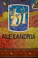 Egypte, la côte méditerranéenne, Alexandrie, mosaique sur la cornique. // Egypt, Alexandria, mosaic on the corniche.
