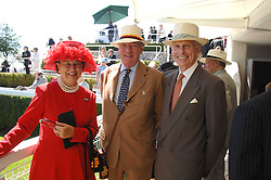 Left to right, LADY SIEFF, LORD VESTEY and the HON.SIR DAVID SIEFF at the 4th day of the Glorious Goodwood racing festival 2007 held at Goodwood Racecourse, West Sussex on 3rd August 2007.<br />
