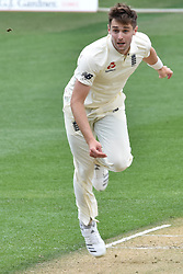 March 23, 2018 - Auckland, Auckland, New Zealand - Chris Woakes of England is in action  during Day Two of the First Test match between New Zealand and England at Eden Park in Auckland on Mar 23, 2018. (Credit Image: © Shirley/Pacific Press via ZUMA Wire)