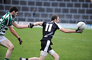 30-11-2014: Ardfert's Damian Wallace breaks away from Valley Rovers David Lynch  in the Munster GAA Club Intermediate Football final in Killarney on Saturday.<br /> Picture by Don MacMonagle XXJOB