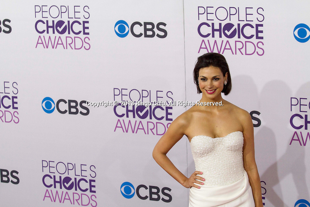 Morena Baccarin arrives at the 39th Annual People's Choice Awards at Nokia Theatre L.A. Live on Wednesday January 9, 2013 in Los Angeles, California, United States. (Photo by Ringo Chiu/PHOTOFORMULA.com)