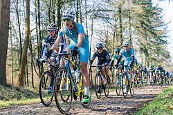 Ariana Fidanza floats across the rough Drenthe cobbles - Ronde van Drenthe 2016, a 138km road race starting and finishing in Hoogeveen, on March 12, 2016 in Drenthe, Netherlands.
