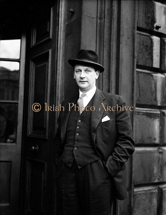 """16th Dail Reopens at Leinster House - Jack Lynch.20/03/1957..John Mary """"Jack"""" Lynch (15 August 1917 - 20 October 1999) was the Taoiseach of Ireland, serving two terms in office; from 1966 to 1973 and 1977 to 1979..Lynch was first elected to Dáil Éireann as a Teachta Dála (TD) for Cork in 1948, and was re-elected at each general election until his retirement in 1981. He previously served as Minister for Finance (1965-1966), Minister for Industry and Commerce (1959-1965), Minister for Education (1957-1959), Minister for the Gaeltacht (1957) and as a Parliamentary Secretary. He was the third leader of Fianna Fáil from 1966 until 1979, succeeding the hugely influential Seán Lemass. Lynch was the last Fianna Fáil leader to secure (in 1977) an overall majority in the Dáil. Historian and journalist T. Ryle Dwyer has called him """"the most popular Irish politician since Daniel O'Connell."""".Prior to his political career Lynch had a successful sporting career as a dual player of Gaelic games. He played hurling with his local club Glen Rovers and with the Cork senior inter-county team from 1936 until 1950. Lynch also played Gaelic football with his local club St. Nicholas' and with the Cork senior inter-county team from 1936 until 1946. He is widely regarded as one of the greatest dual players of all-time..In a senior inter-county hurling career that lasted for fourteen years he won five All-Ireland titles, seven Munster titles, three National Hurling League titles and seven Railway Cup titles. In a senior inter-county football career that lasted for ten years Lynch won one All-Ireland title, two Munster titles and one Railway Cup title. Lynch was later named at midfield on the GAA Hurling Team of the Century and the GAA Hurling Team of the Millennium."""