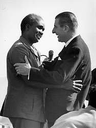Nov. 27, 1966 - Santiago, Chile - EDUARDO FREI MONTALVA (January 16, 1911 - January 22, 1982) was a politician who served as the President of Child from 1964 until 1970. PICTURED: President Montalva being received by the Zambian President KENNETH KAUNDA. (Credit Image: © Keystone Press Agency/Keystone USA via ZUMAPRESS.com)